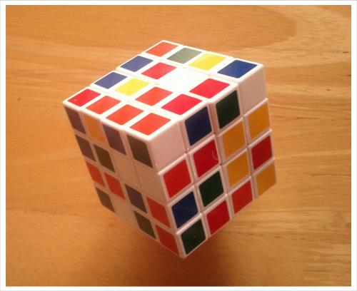 Colorful Unsolved Cube