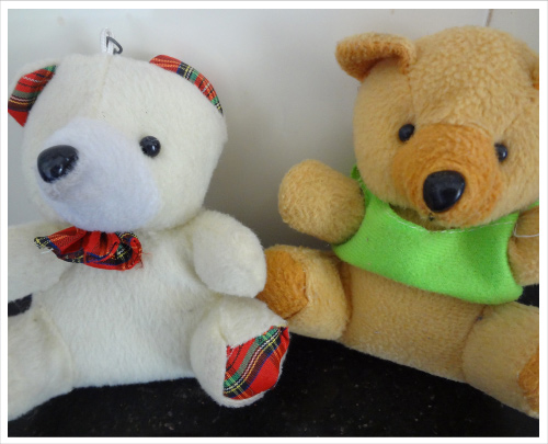 Teddy Bears, Two Colors