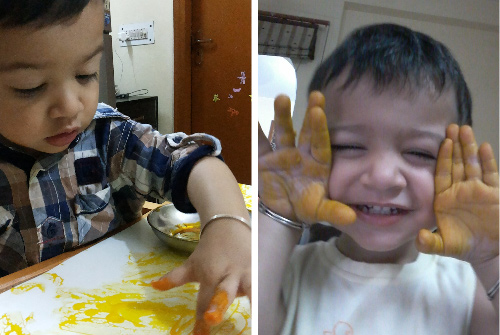 Kids Paint Yellow