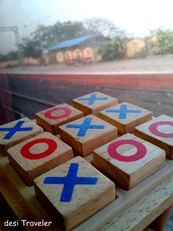 Tic Tac Toe made of wood